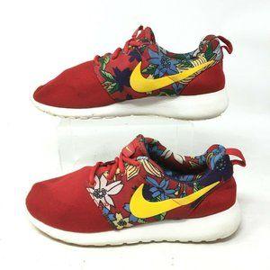 Nike Roshe Run Aloha Print Running Sneakers Womens